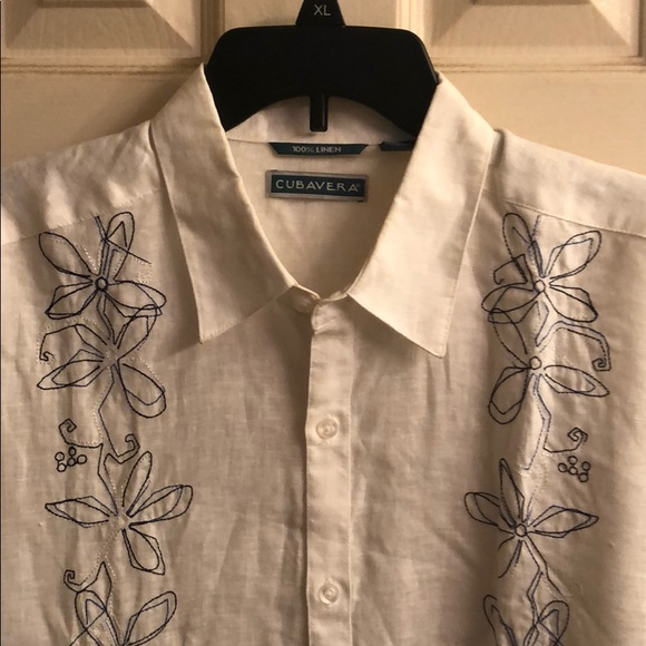 Cubavera Shirts Mens Long Sleeve Linen Shirt Poshmark